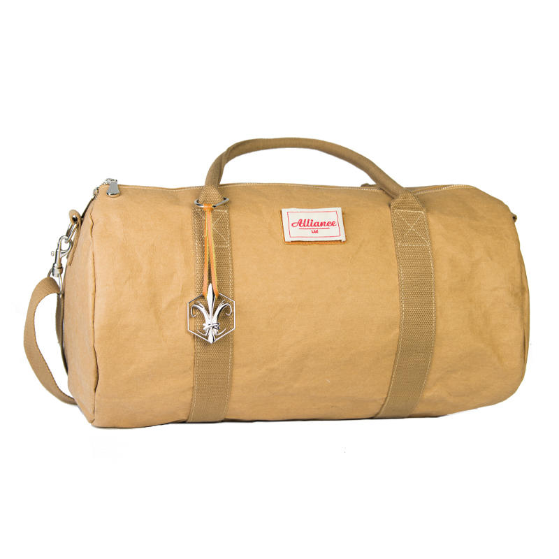 High Quality Outdoor Fashion Washed Kraft Paper Travel Bag