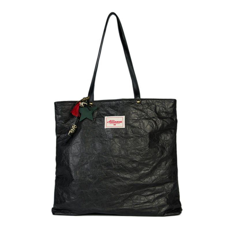 Custom Durable Waterproof Reusable Washable Brown Tote Paper Tyvek Shopping Bag