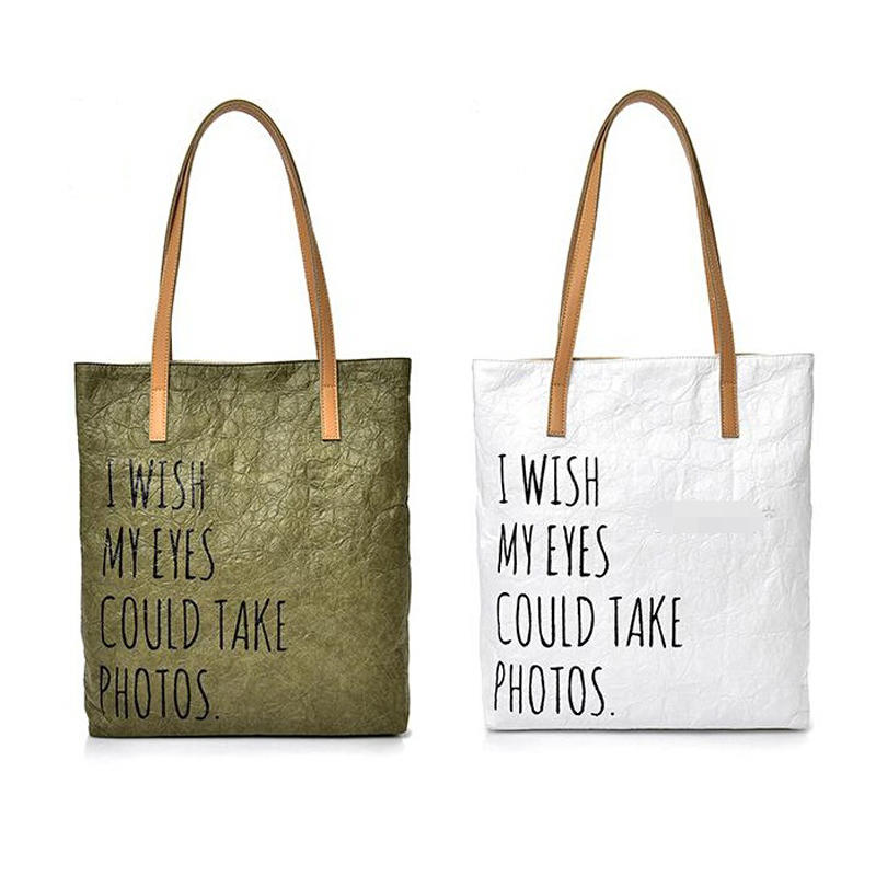 Reusable Breathable Recyclable Professional Tyvek Paper Tote Bag