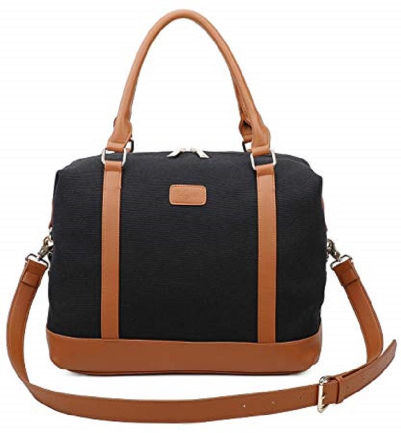 Travel Tote Bag Carry On Shoulder Bag Overnight Duffel in Trolley Handle