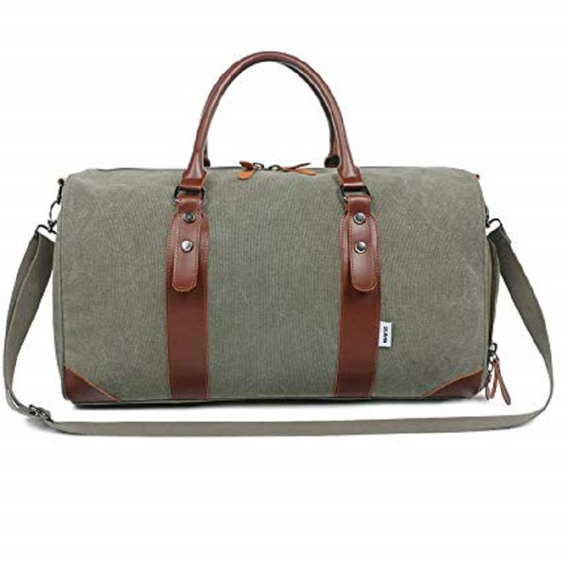 Large Canvas Weekender Overnight Travel Carry On DuffleTote Bag