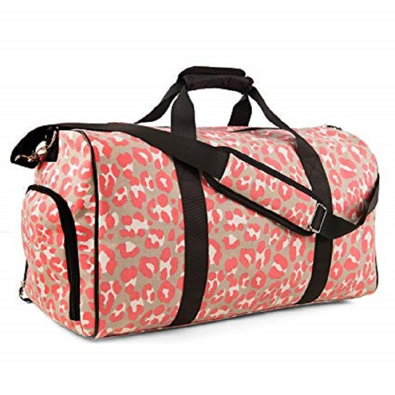 Sports Gym Bag Travel Duffle Weekender Overnight Carry On Luggage with Shoe Compartment for Women