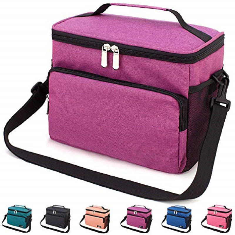 Office Work Picnic Hiking Beach Lunch Box Organizer with Adjustable Shoulder Strap