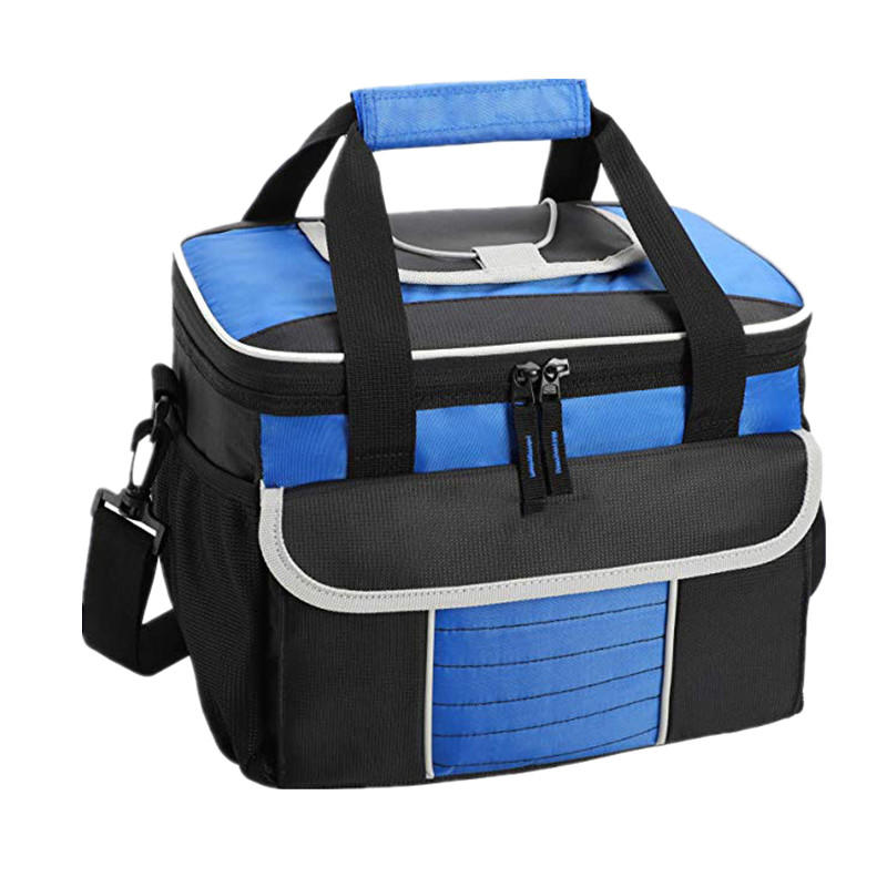 Large Soft Cooler Bag Insulated Lunch Box Multiple Pockets Picnic Cooler Tote
