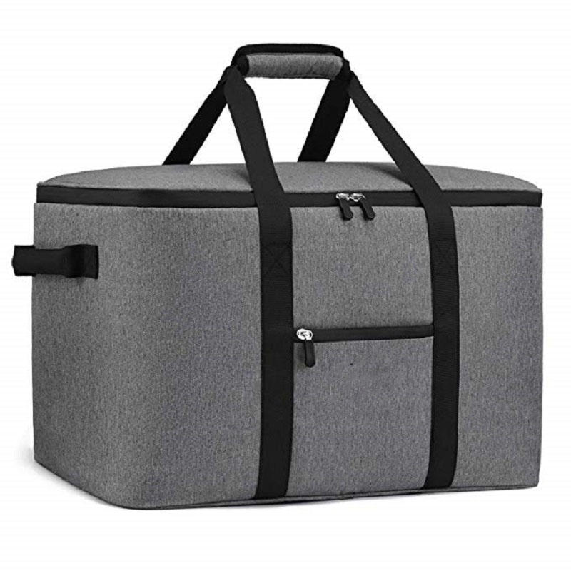 65 Cans Soft-Sided Collapsible Car Cooler Leak-Proof Thermal Tote Bag with Side Handles