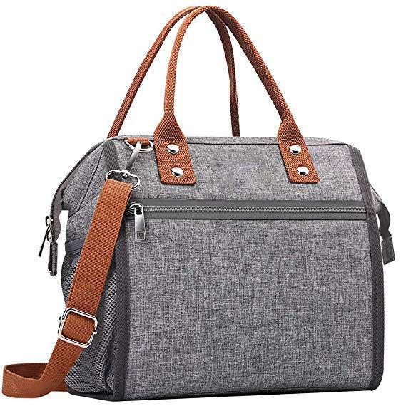 Large Capacity Removable Shoulder Strap Multi-functional Reusable Thermal Snacks Cooler Bag
