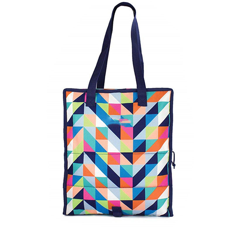 Freezable Grocery Shopping Tote Bag with Zip Closure Paradise Breeze