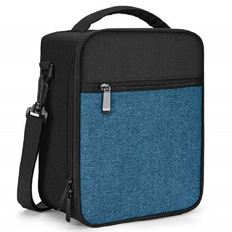 2 Pockets Spacious Insulated School Box Durable Thermal Lunch Cooler Pack with Strap