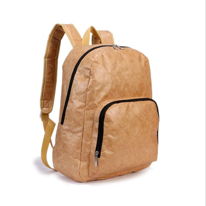 Eco Friendly Washable Tyvek Paper Foldable Backpack