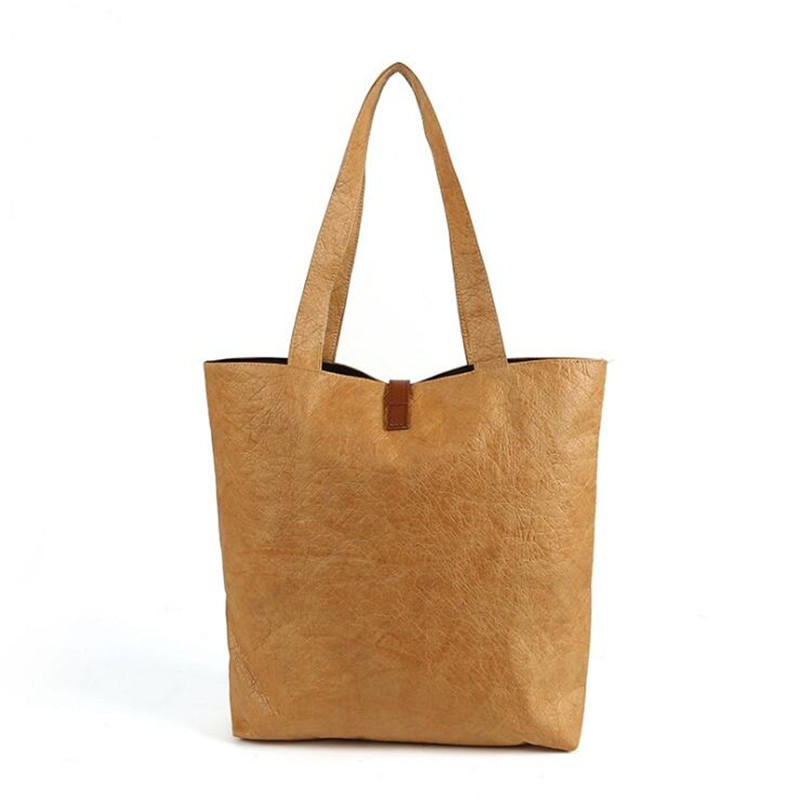 Recyclable customized printing natural tyvek paper shopping handbag
