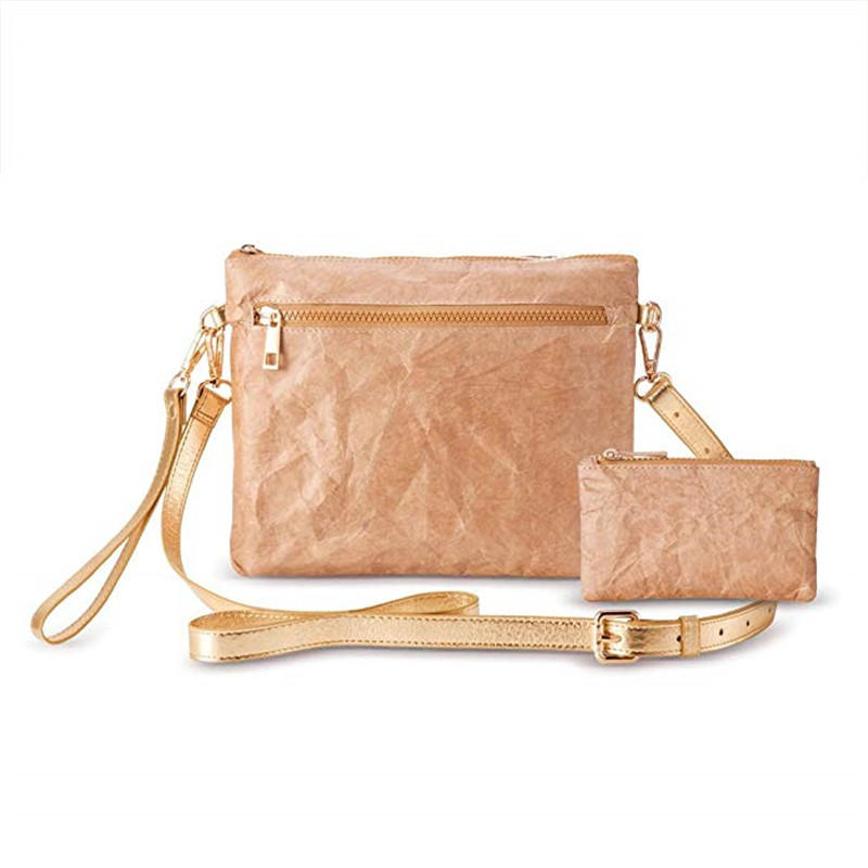 ECO Cork Women Girl Small Zippers Pockets Coin Card Purse CrossBody Clutch Shoulder Hand Bag
