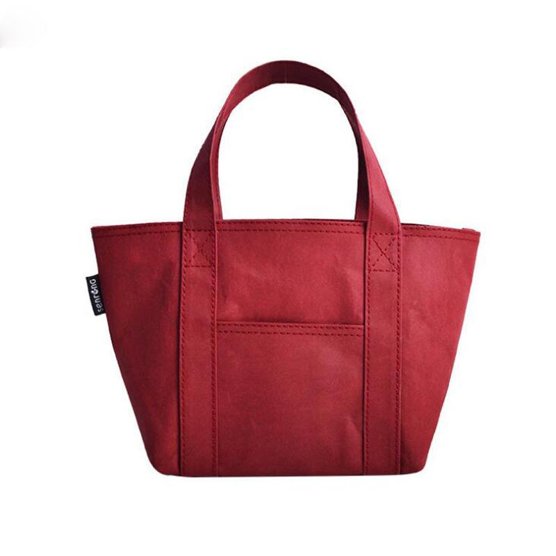 Wholesale custom printing washable kraft paper tote handbag