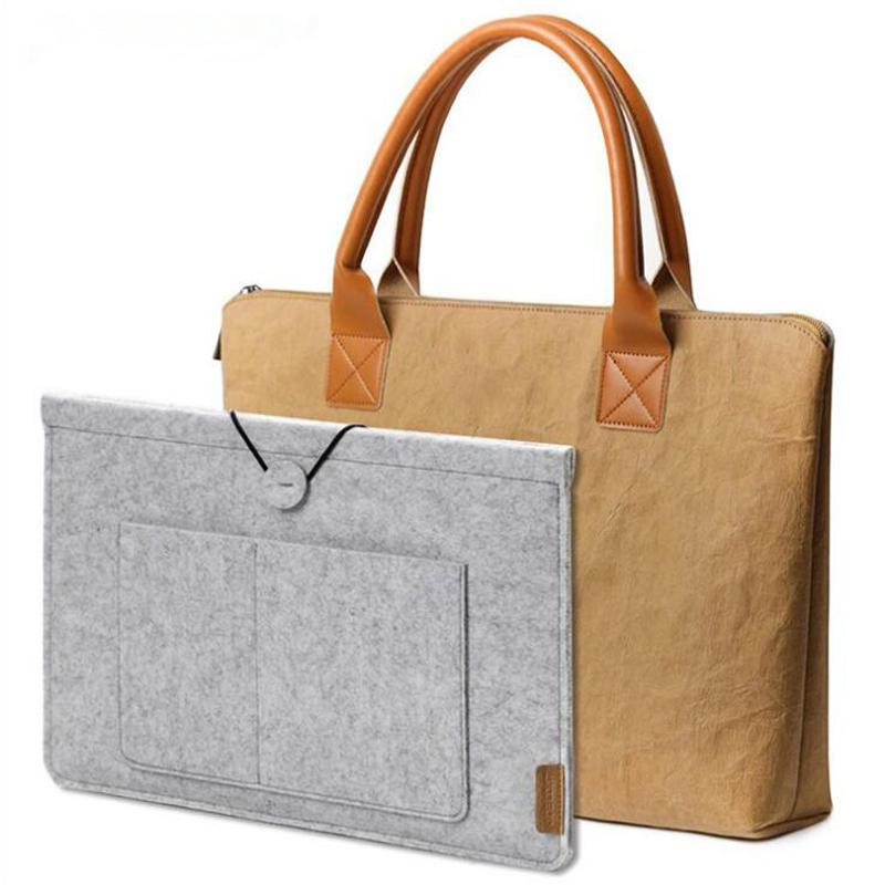 Hot Sales High Quality Craft Paper Men Computer Handbag