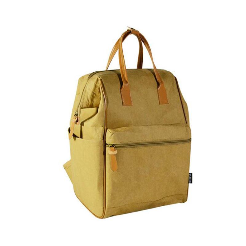 Fashion Promotional Travel Wash Craft Paper Diaper Backpack Bag