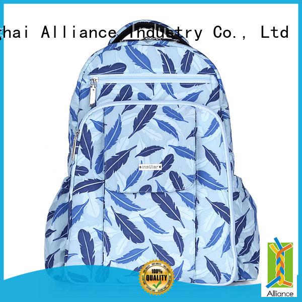 Alliance diaper bag backpack manufacturer for girls