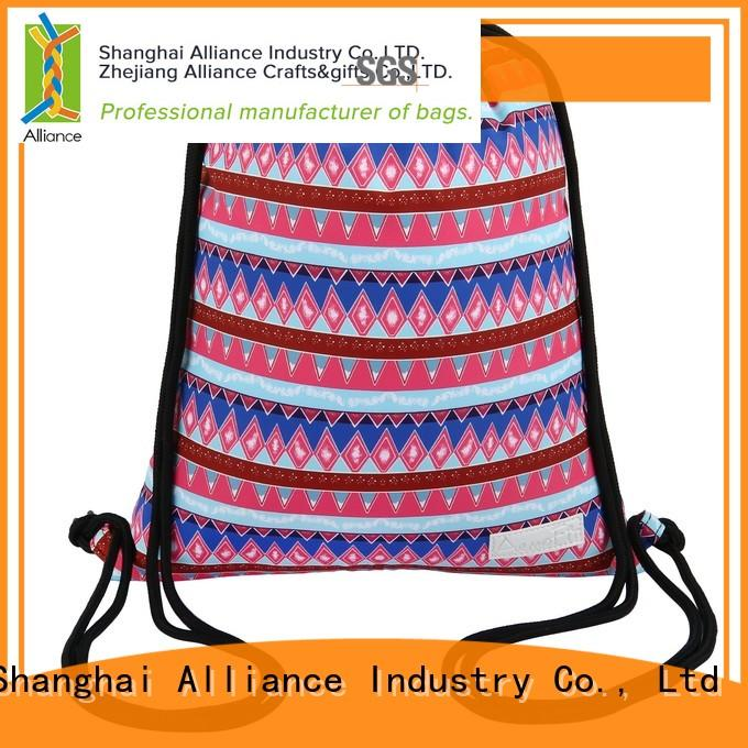 Alliance cotton drawstring bags with good price for sport