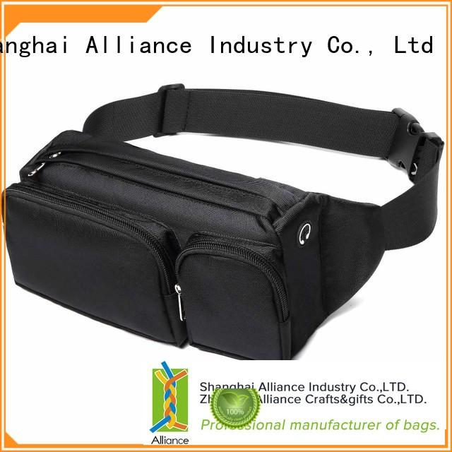 Alliance mens waist bag factory price for sports