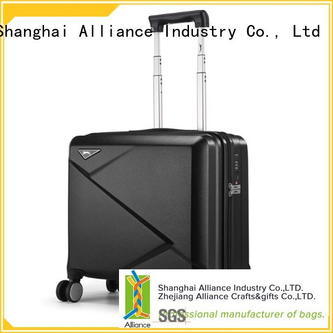 Alliance sturdy polycarbonate luggage factory price for outdoor