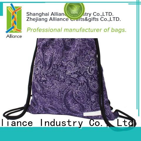 Alliance drawstring backpack with good price for girls
