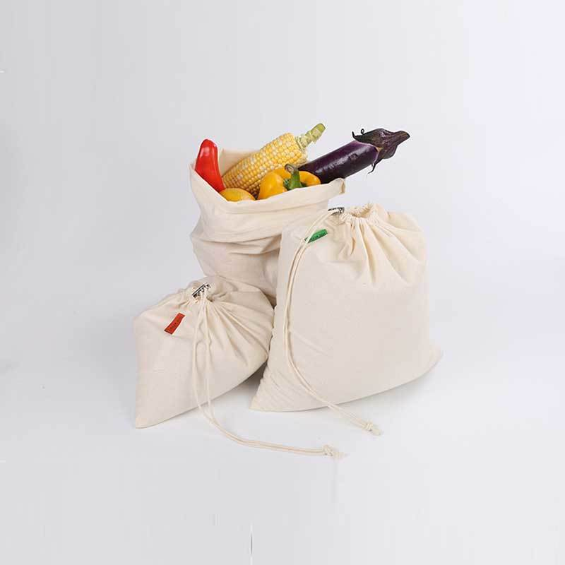 Muslin Cotton Fabric Produce Bags TM-166