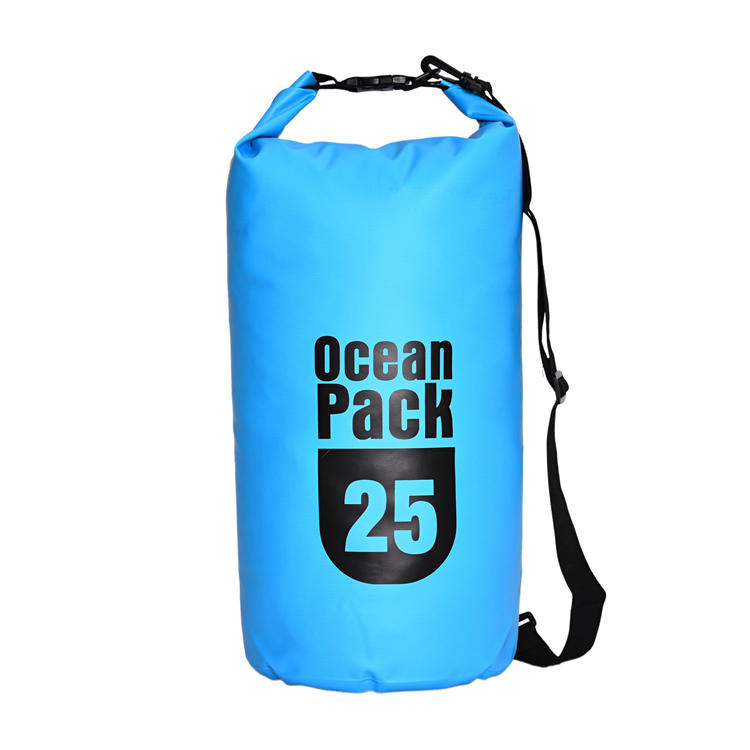 Waterproof PVC Dry Bags for Hiking with Adjustable Shoulder Strap