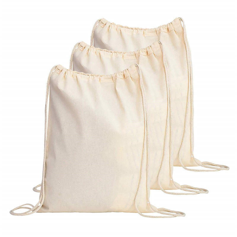 100%cotton drawstring backpack travel bags for kids ,children,student