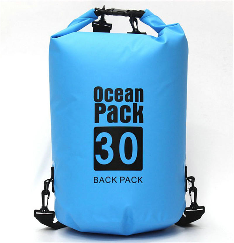 Outdoor foldable customized 500D PVC tarpaulin waterproof dry backpack bag