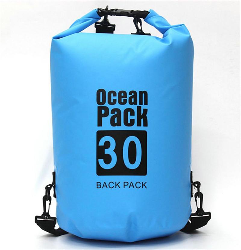 Outdoor foldable customized 500D PVC tarpaulin waterproof dry backpack bag