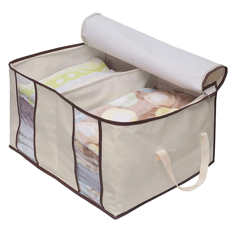 Clothing Storage Bags 2 Divided Sections Closet Organizers for Clothes Blankets Linens