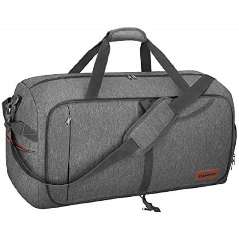 65L Foldable Weekender Travel Duffel Bag with Shoes Compartment for Men Women Water-proof And Tear Resistant