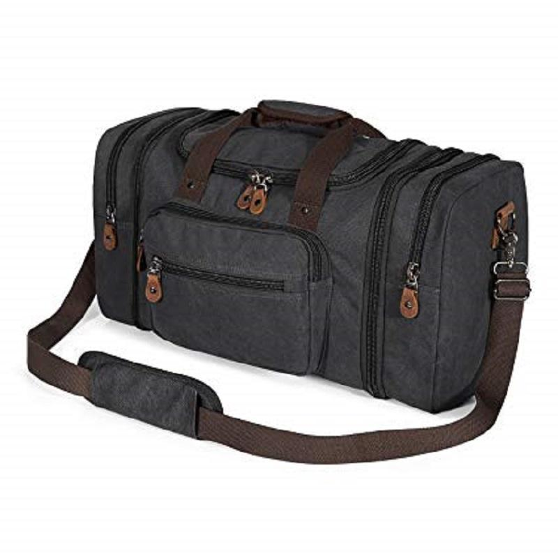 Canvas Travelling Duffle Bag for Travel 50L Duffel Overnight Weekend Bag