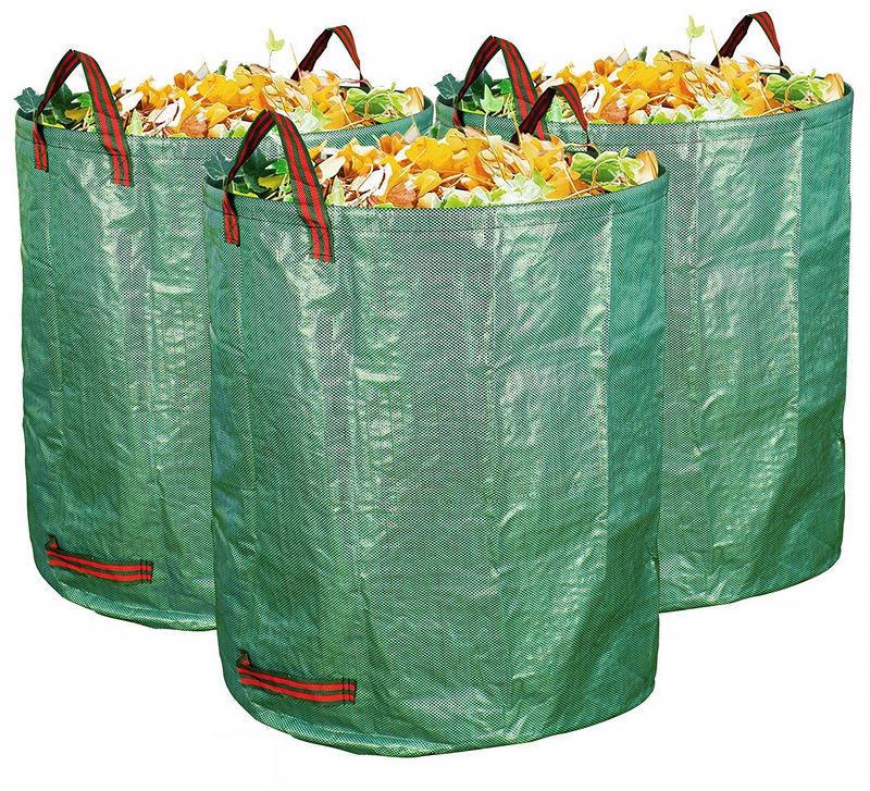 3-Pack 72 Gallons Garden Bag - Reuseable Heavy Duty Gardening Bags Lawn Pool Garden Leaf Waste Bag