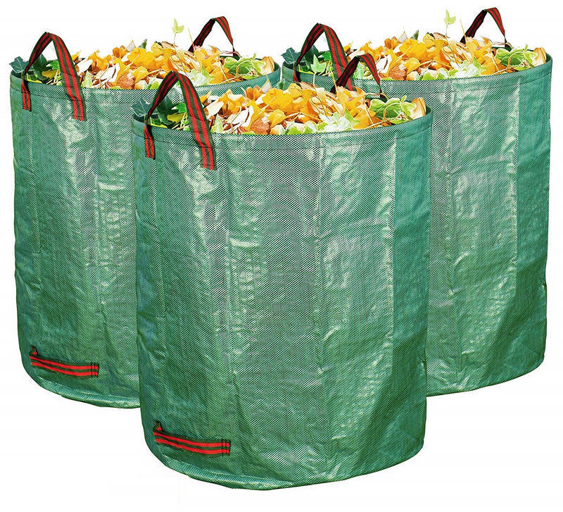 3-Pack 72 Gallons Garden Bag - Reuseable Heavy Duty Gardening Bags Lawn Pool Garden Leaf Waste Bag