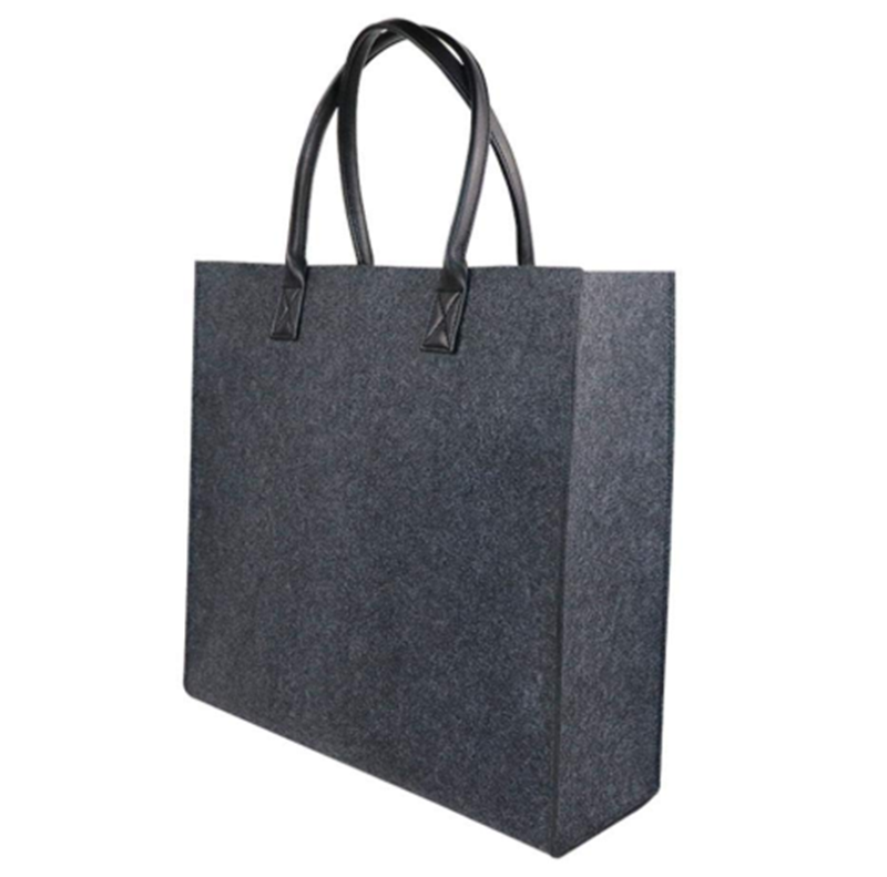 Grocery Shopping Bag, Eco-Friendly Reusable Foldable Felt Tote Bag for Women And Girls