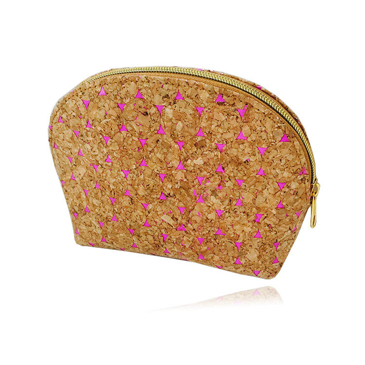 Cork Cosmetic Bag Makeup Organizer Pouch with Zipper