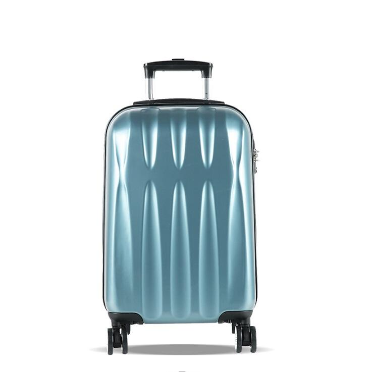 Factory price 3 wheels ABS suitcase 3 pieces president trolley unique luggage sets