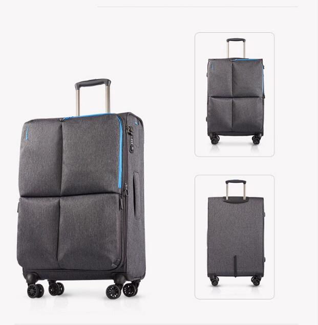 lightweight durable soft side polyester nylon EVA set of 3pcs luggage travel trolley bag sets