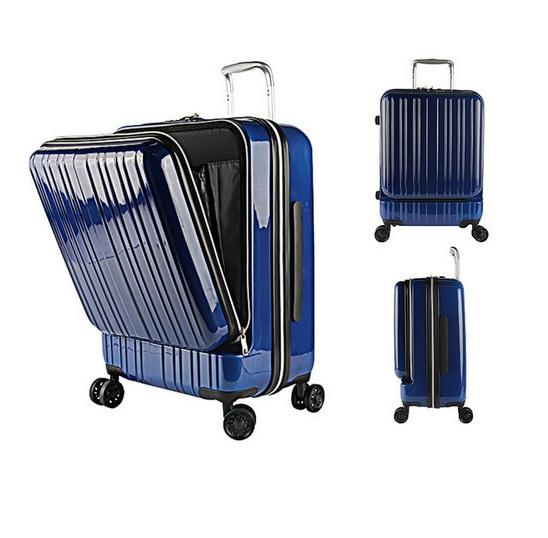 carry on hardside hard shell durable laptop pocket travel trolley zipper luggage suitcase