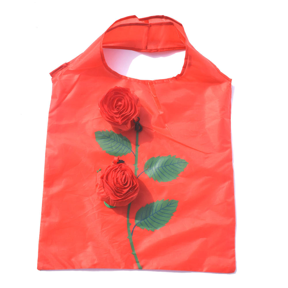 Rose Shape Folding Shopping Bag