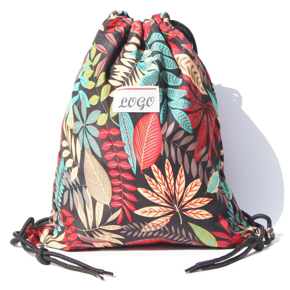 Drawstring Bag Water Resistant Lightweight Gym Sackpack Bag