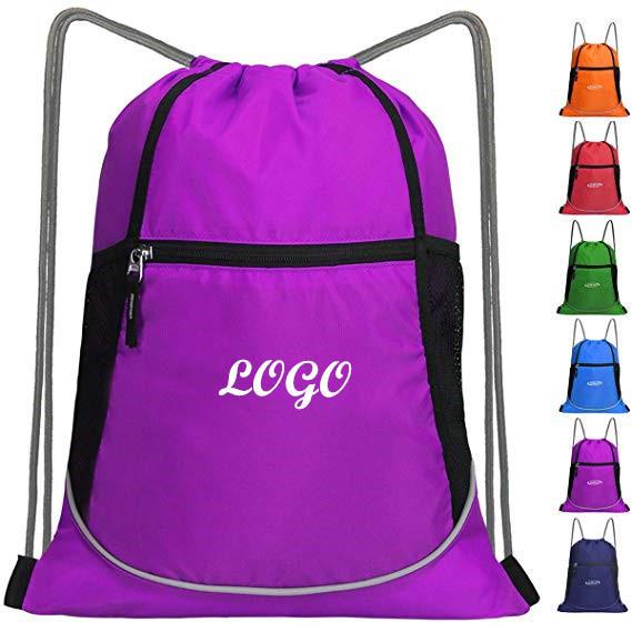 Drawstring Backpack Sports Gym Bag Large String Backpack
