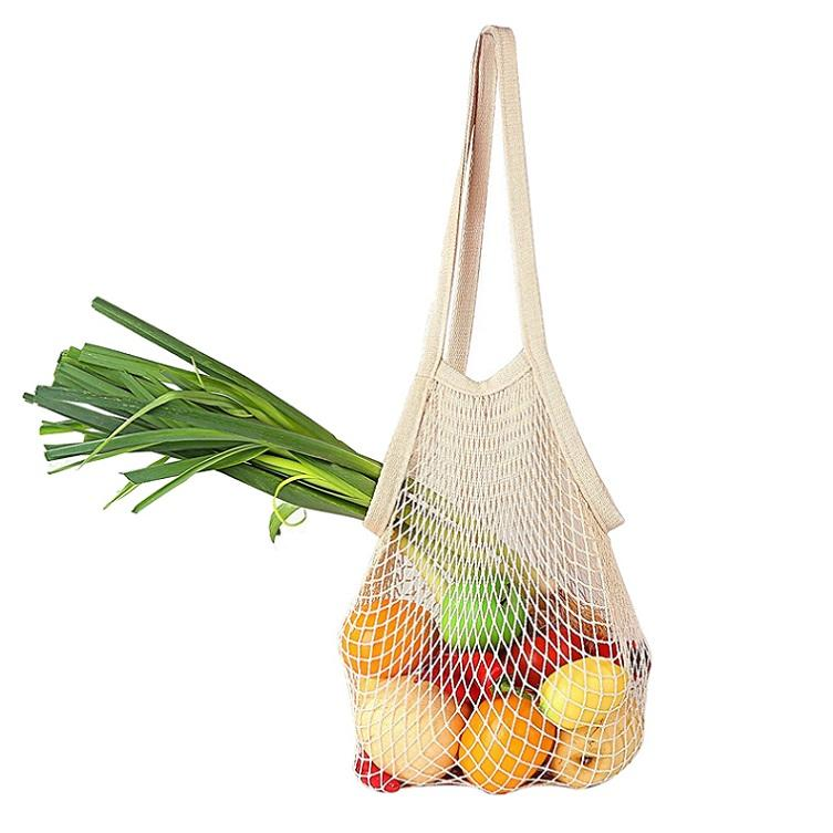 Wholesale Reusable Cotton Fruit Mesh Produce Bag TM-161