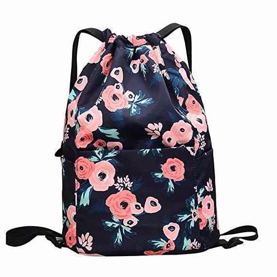 Drawstring Bag Gym bag Drawstring Backpack for Travel or sports