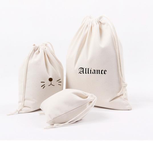 Wholesale cotton canvas drawstring bag