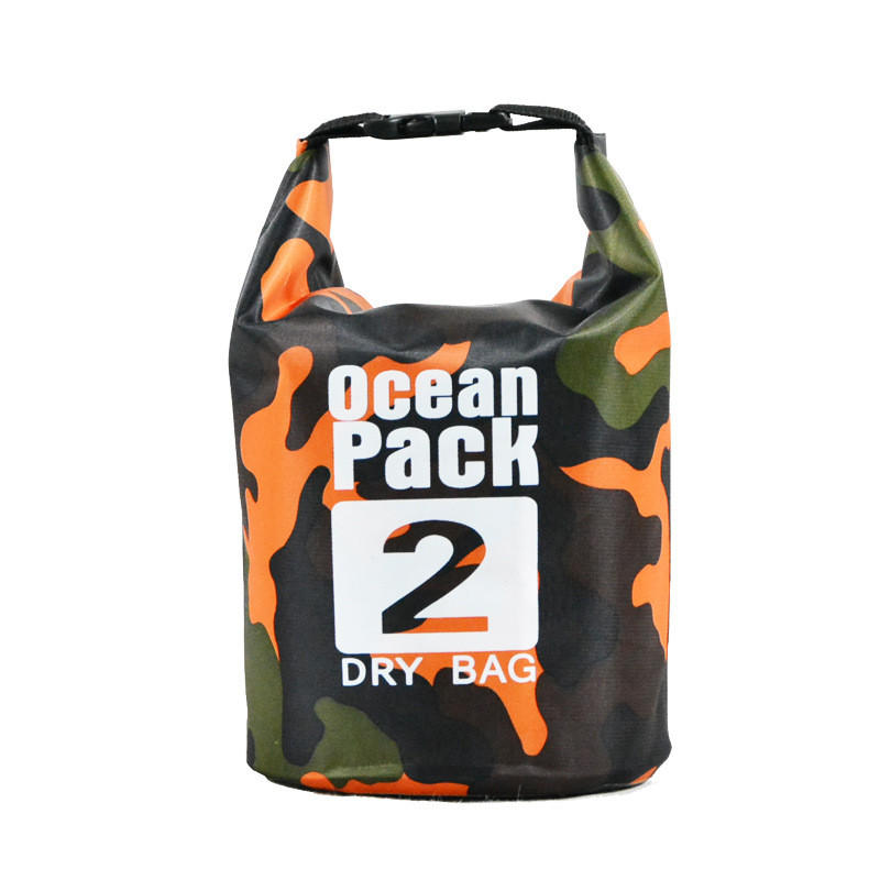 Classic Camouflage Style Waterproof Dry Bag Roll Top Dry Compression Sack Keeps Gear Dry for Boating