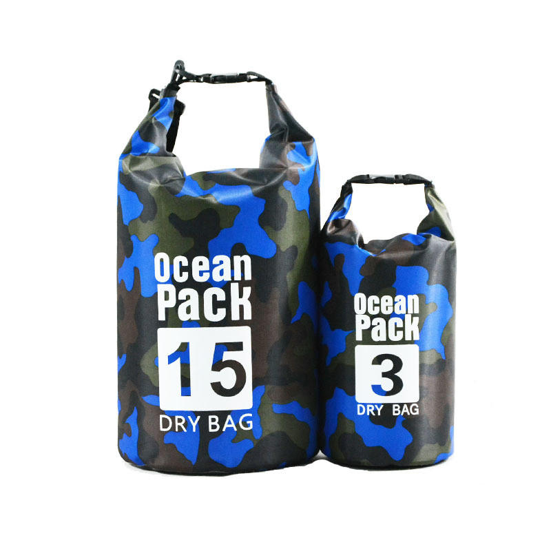Camo Water Resistant Lightweight Floating Storage Bags Roll Top Sack Keeps Gear Dry for Water Sports