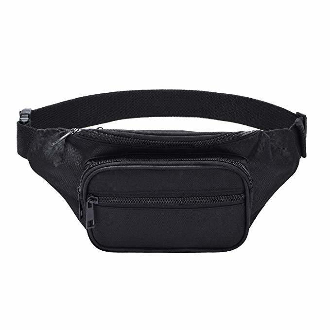 Casual Belt Bag for Travel Sports Running Crossbody Waist Bags Men