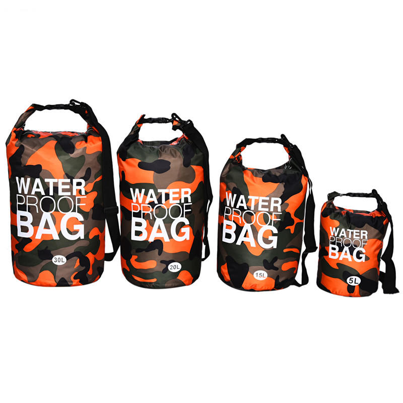 Classic Camouflage Color Waterproof  Dry Bag Backpack Lightweight Designed Ocean pack for Beach Rafting and Fishing