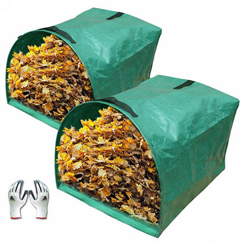 2-Pack Large Yard Dustpan-Type Garden Bag for Collecting Leaves