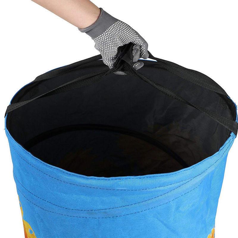 32 Gallon Sun Flower Print Collapsible Canvas Portable Yard Waste Bag